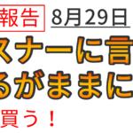 【運用報告:8月29日】安倍のショックで大暴落!?